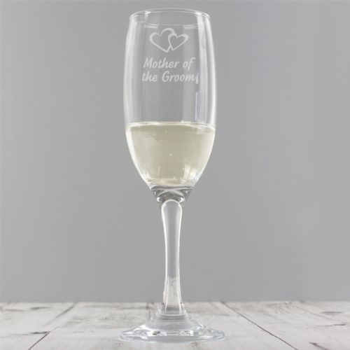 Mother of Groom Single Champagne Flute Gift Wedding Party